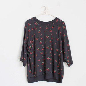 NWT Z Supply Cherry Crew Pullover Top